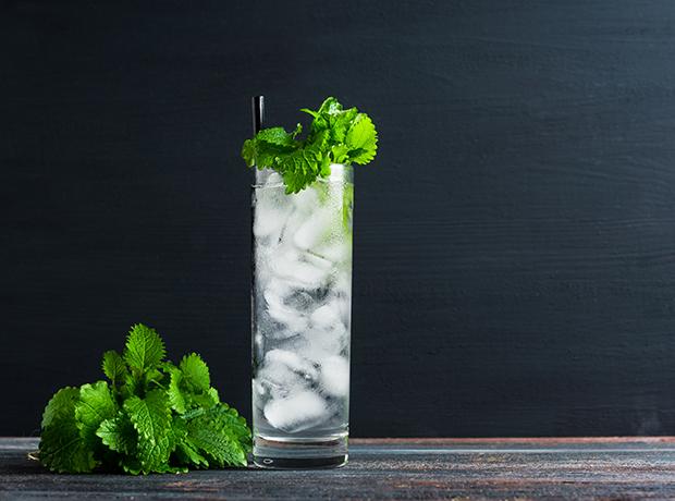 Mint julep in glass