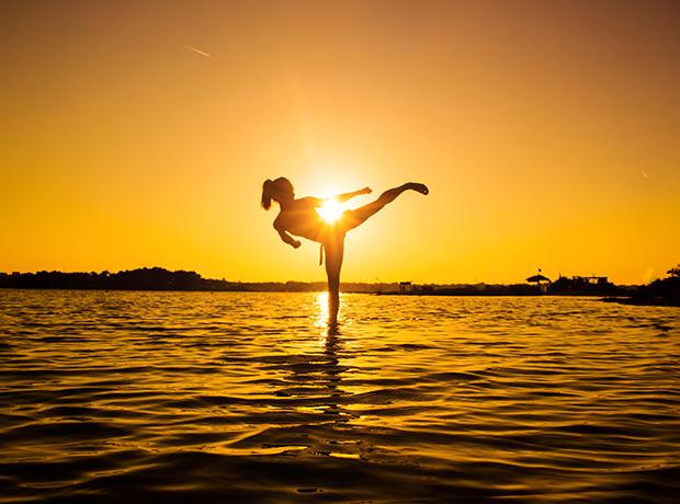 Karate sunset