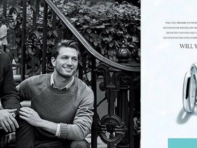 В рекламе Tiffany снялась пара гомосексуалистов-430x480