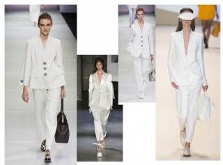 белоснежные костюмы весна-лето 2015