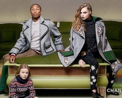 Кара Делевинь и Фаррелл Уильямс для Chanel-430x480