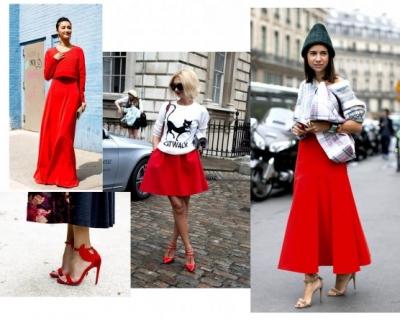 С чем носить вещи красного цвета-430x480