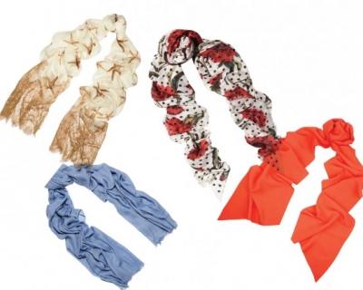 Как носить шарф весной-430x480