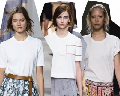 Cвятая простота: с чем носить белую футболку-430x480