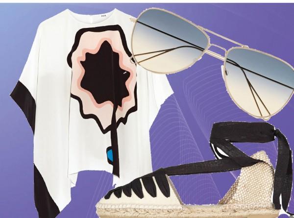 туника ISSA; очки ISABEL MARANT; эспадрильи CASTA?ER