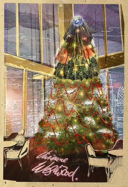 Вивьен Вествуд создала дизайн новогодней елки