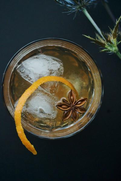 пряный коктейль с виски