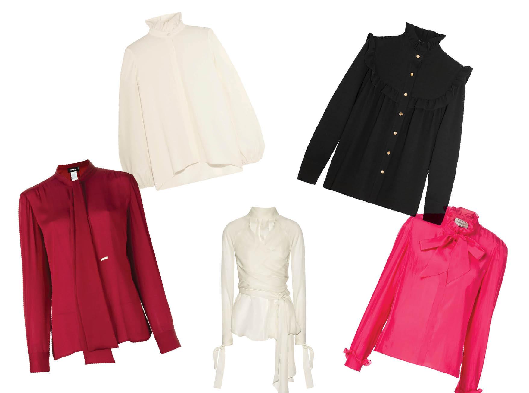 Тренд сезона: Блузы с высоким воротом-320x180