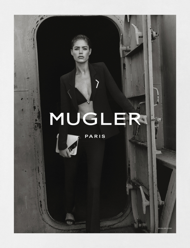 Mugler's spring 2016 campaign featuring Doutzen Kroes.