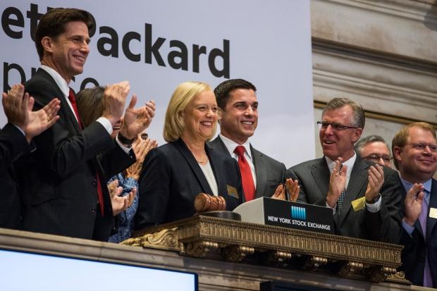 Мег Уитман открывает торги на фондовой бирже