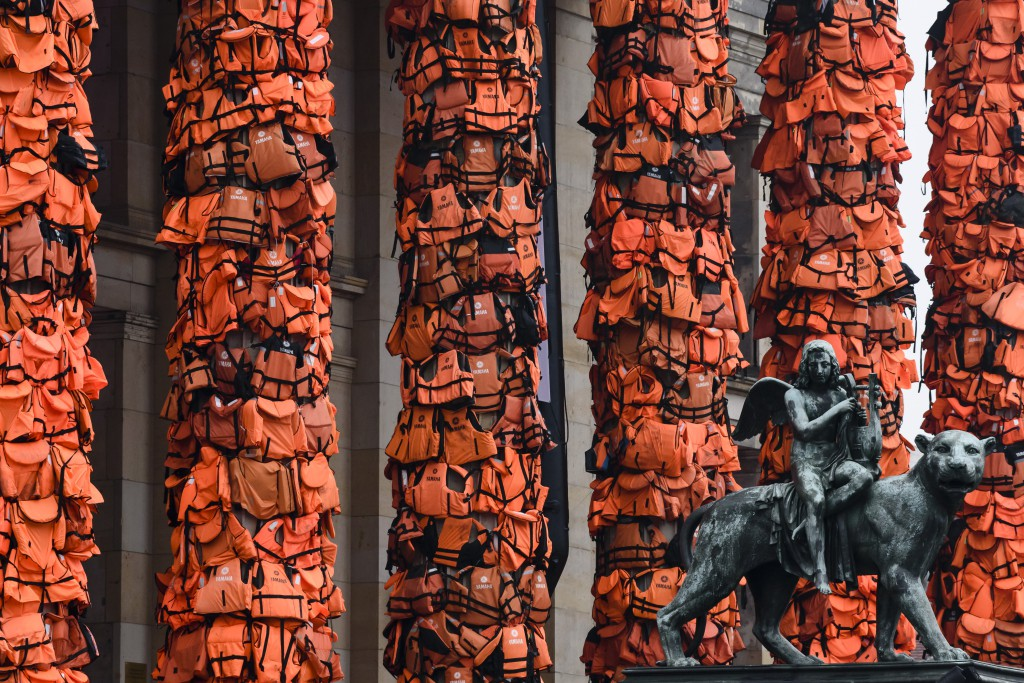 Ai Weiwei Creates Art Installation From Refugee Life Vests