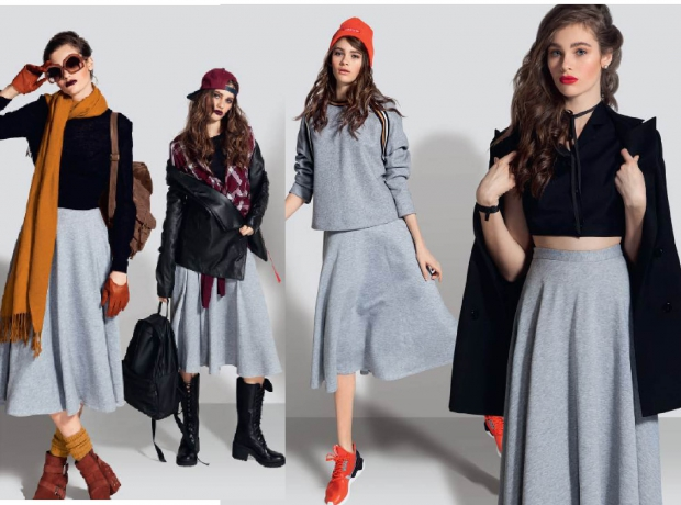 С чем носить трикотажную юбку-320x180
