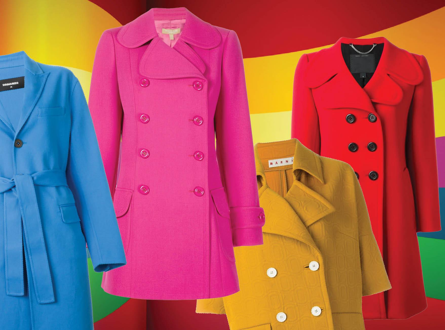 С чем весной носить яркое пальто-320x180