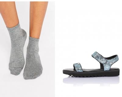 Как носить босоножки с носками-430x480