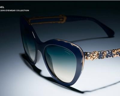 Камелия − новый символ коллекции очков Chanel Bijou-430x480