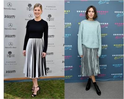 Звездный тренд: плиссированная юбка-430x480