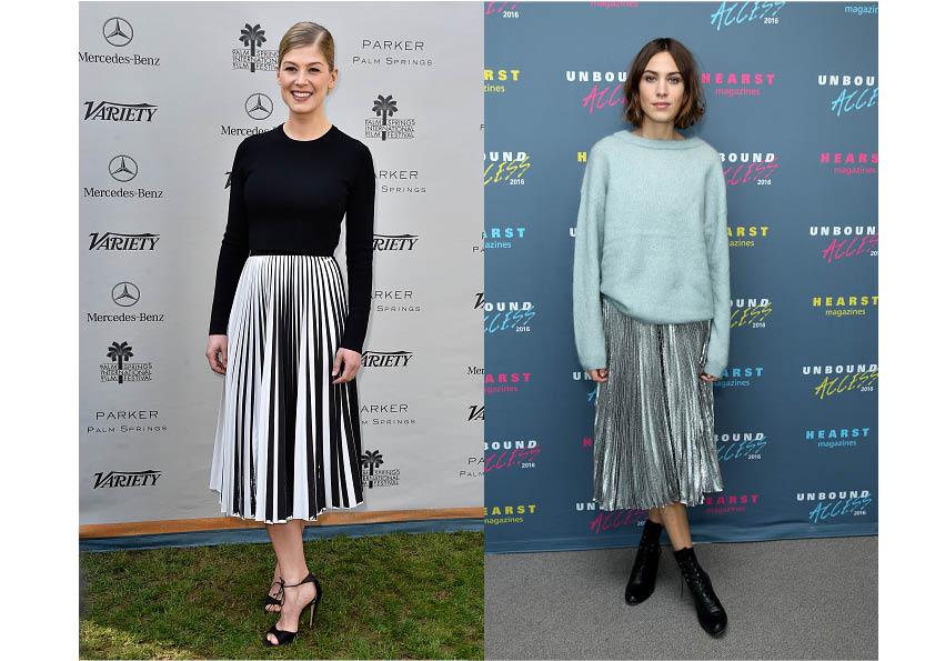 Звездный тренд: плиссированная юбка-320x180