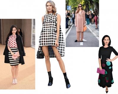 Street style тренд: принт polka dot-430x480