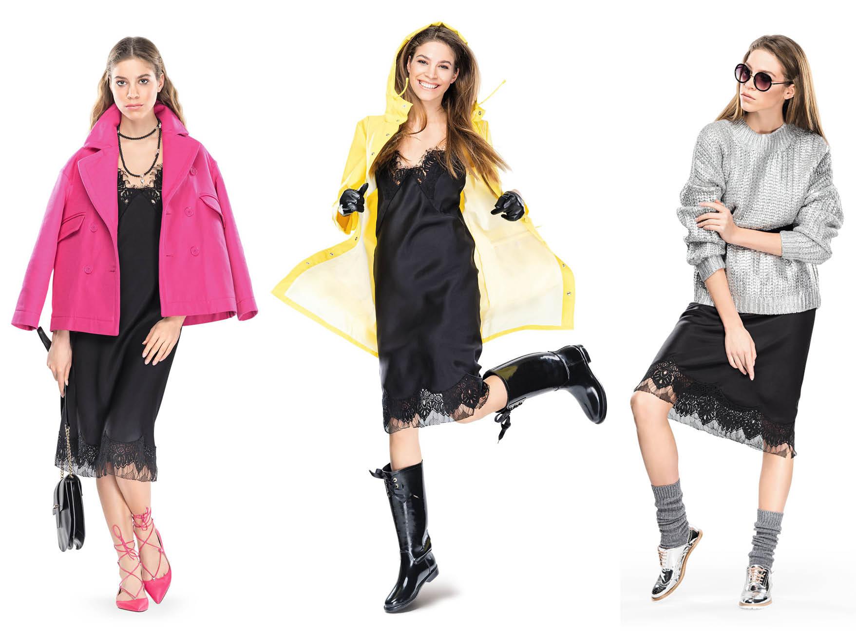 С чем носить  платье-комбинацию:  5 образов-320x180