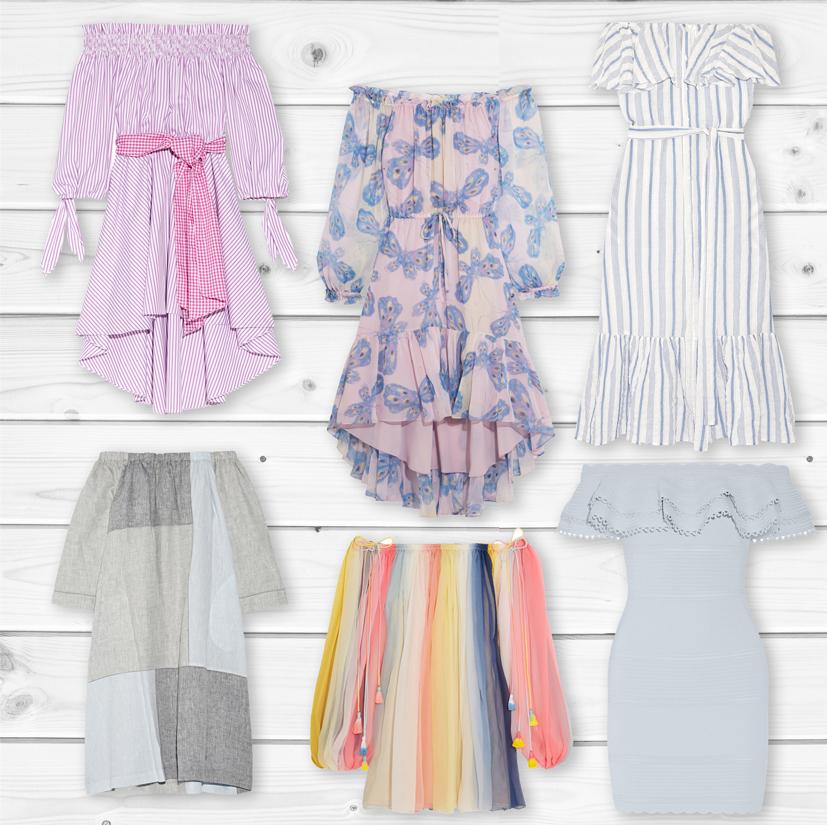 Тренд сезона: платья с открытыми плечами-320x180