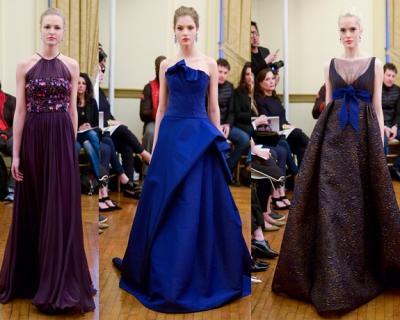 Синее и коричневое: необычные свадебные платья Peter Langner-430x480