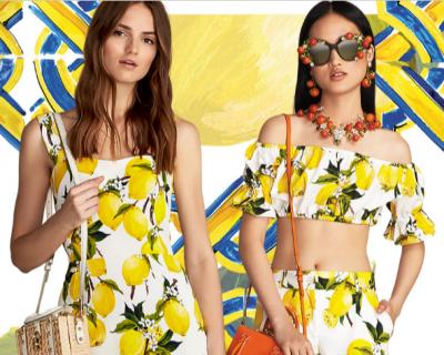 Итальянское лето: коллекция Dolce&Gabbana c лимонным принтом-430x480