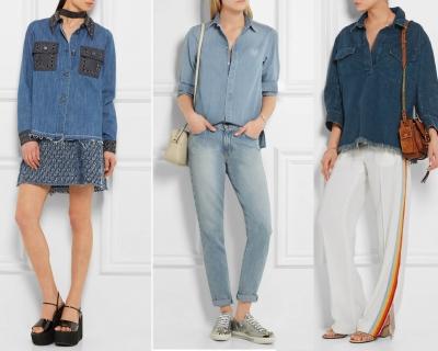 С чем носить джинсовую рубашку: 10 стильных образов-430x480