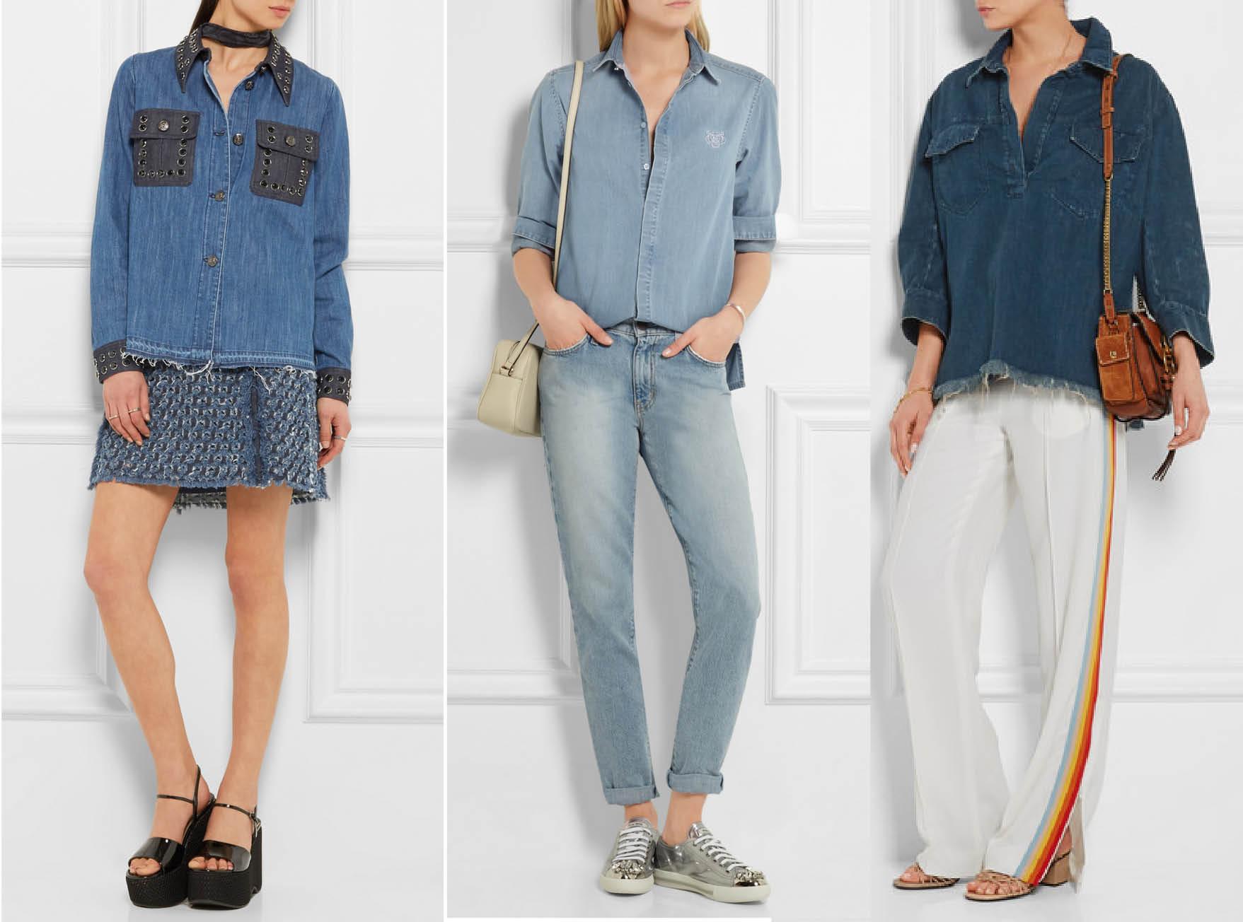 С чем носить джинсовую рубашку: 10 стильных образов-320x180