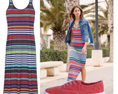 Как летом носить платье-майку-430x480