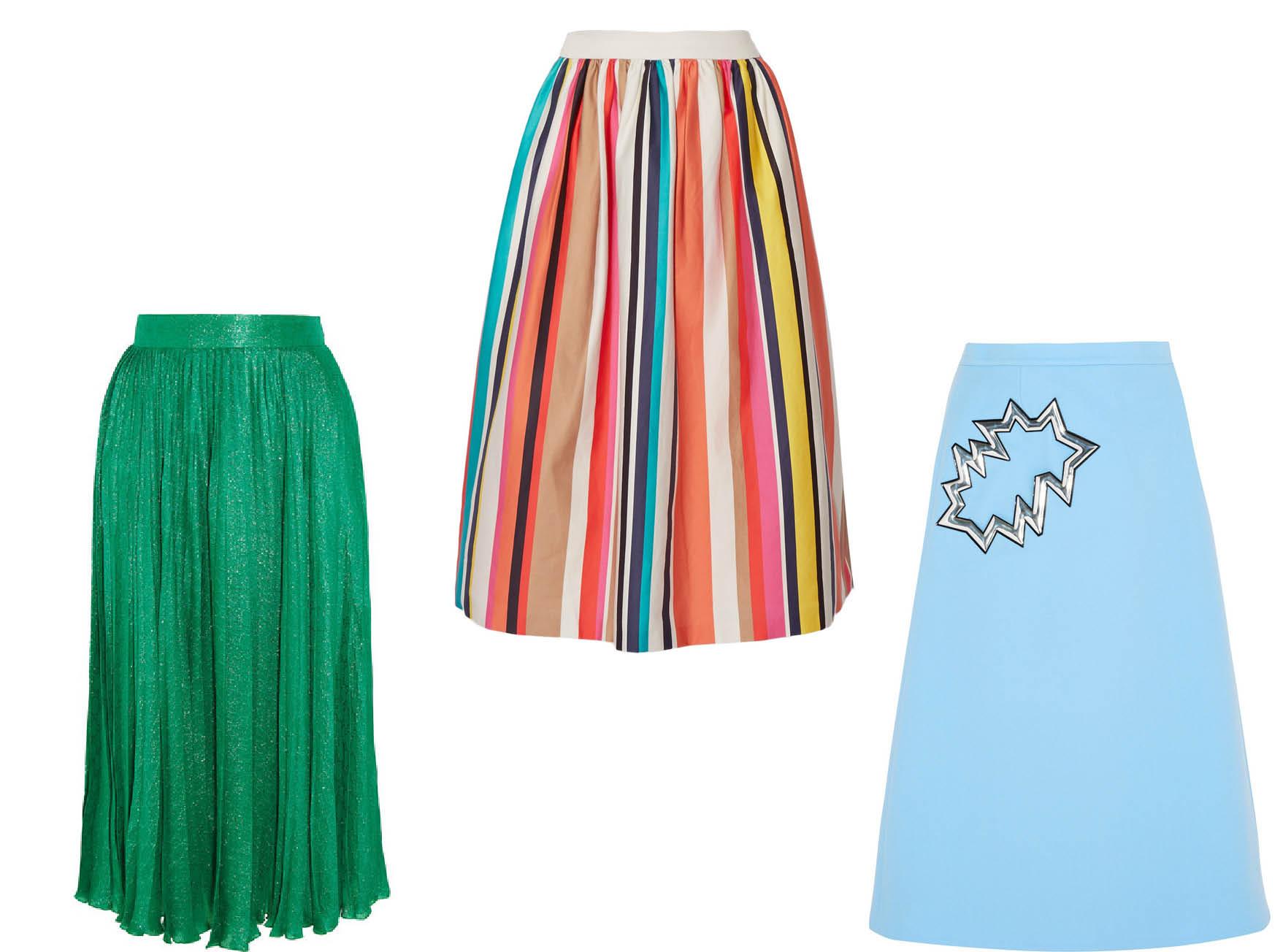 С чем носить яркую юбку-миди-320x180