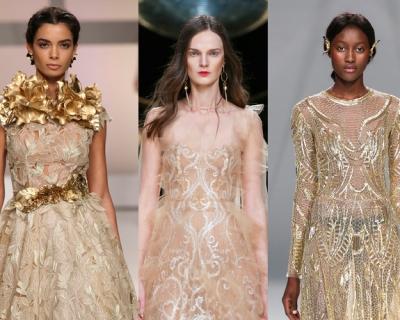 Европейский тренд: золотое свадебное платье-430x480