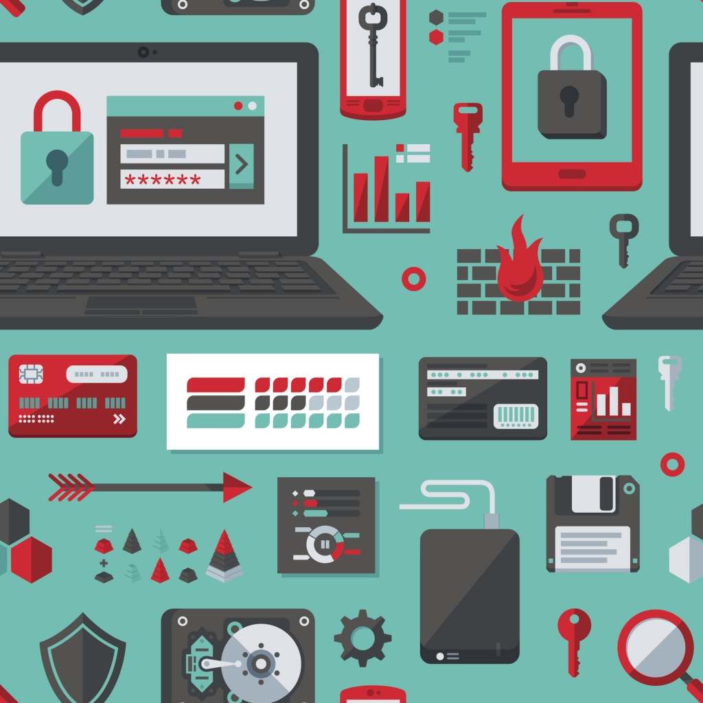 IT Security Flat Design Pattern