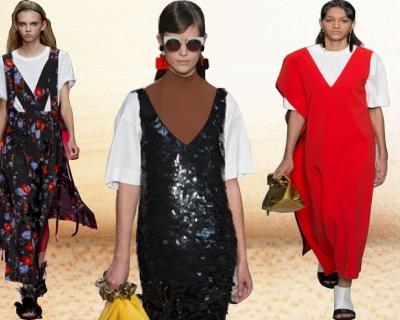 Главное сочетание этого лета: платье + футболка-430x480
