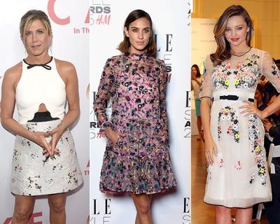 Звездный тренд: платья с цветочным принтом-430x480