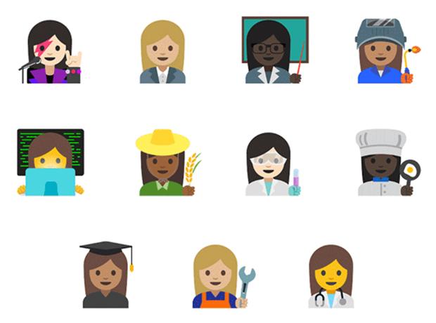 Новые женские Emoji: ученый, сварщик и рок-звезда