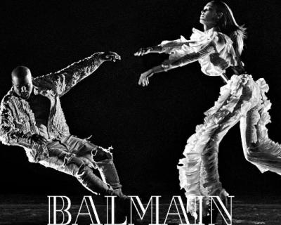 Канье Уэст в рекламной кампании Balmain fw '16-430x480