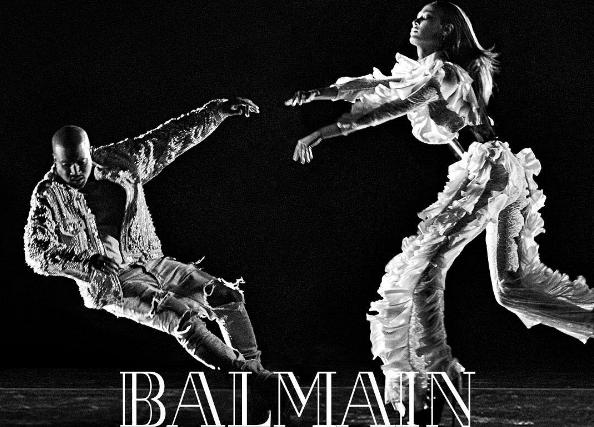 Канье Уэст в рекламной кампании Balmain fw '16