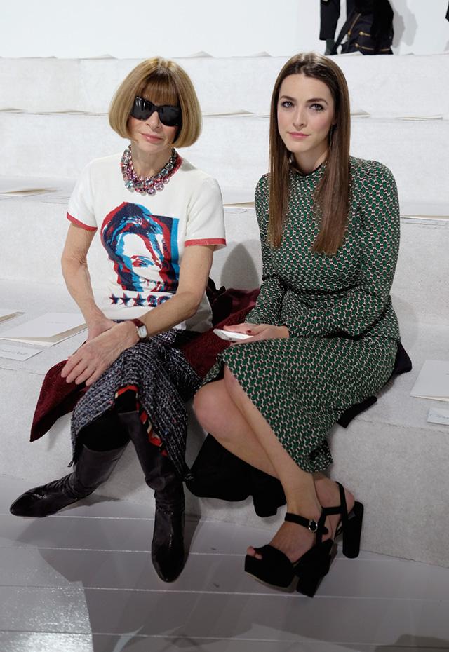 Marc Jacobs Fall 2016 Show Анна Винтур