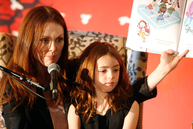 Julianne Moore Hosts Make it Matter Day In Support Of Literacy & Education