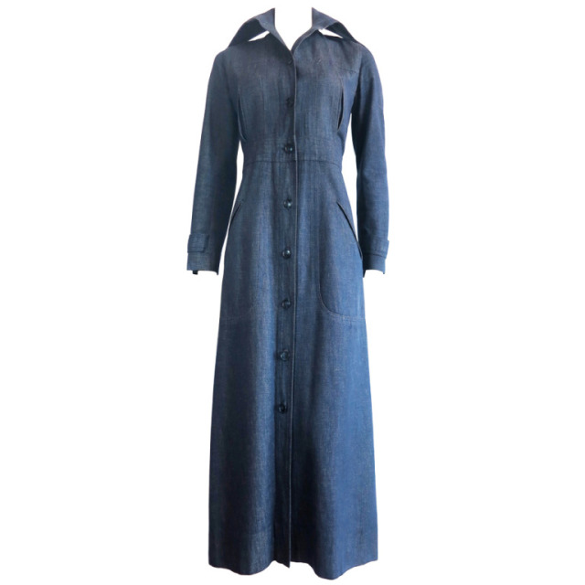 YSL denim coat dress
