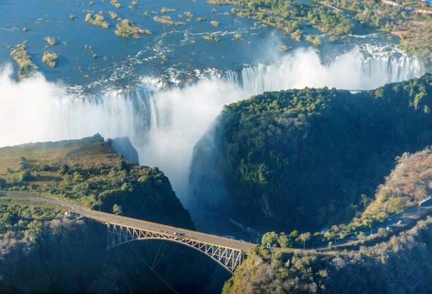 Достопримечательности Африки - водопад