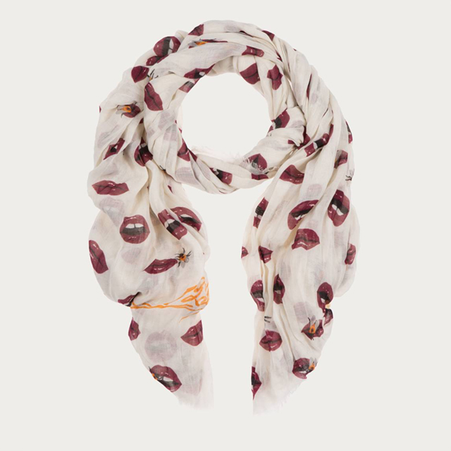ICONIC LIP PRINT BALLY, Scarf Bally Pre-Fall 2016