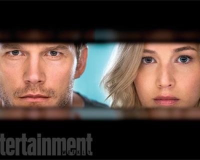 Первые кадры фильма «Пассажиры» с Дженнифер Лоуренс и Крисом Прэттом-430x480