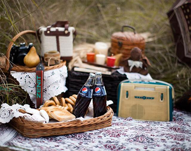 пикник в стиле винтаж