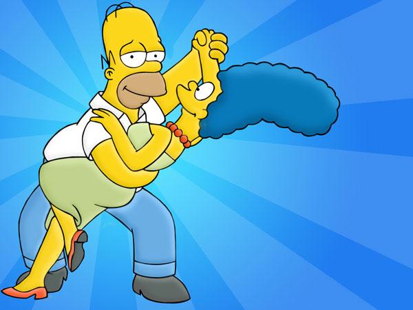 Гомер и Мардж Симпсоны