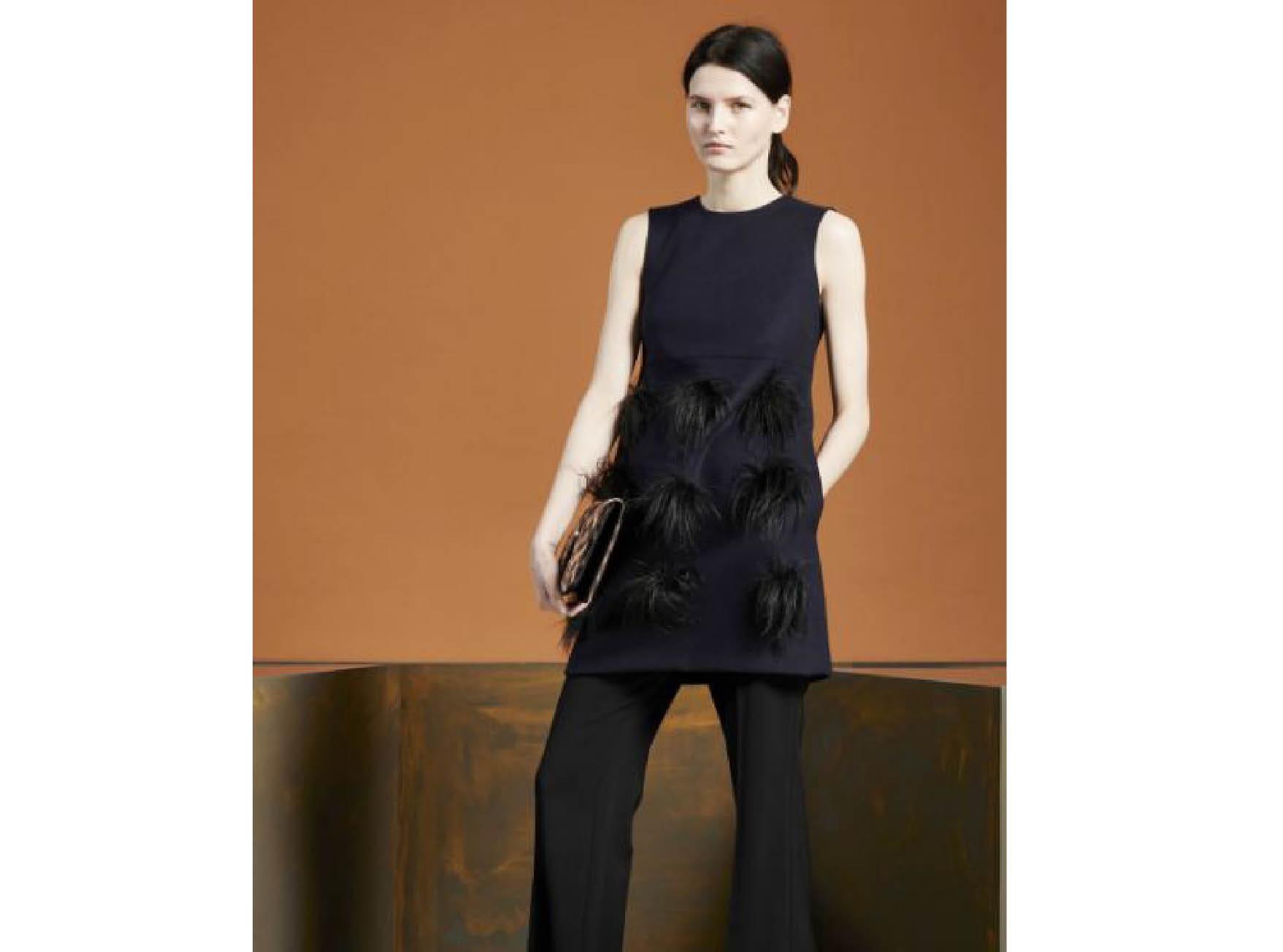 Как использовать  многослойность и носить платье на брюки-320x180