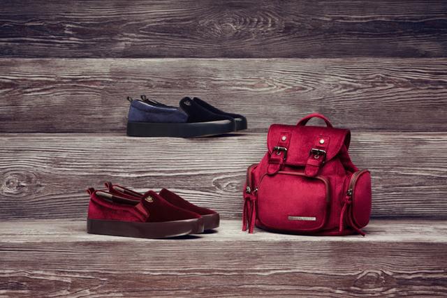 Бархатная обувь и рюкзак Antonio Biaggi