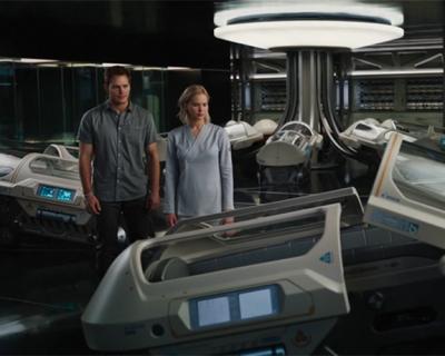 Космическая любовь: Дженнифер Лоуренс и Крис Прэтт в трейлере «Пассажиров»-430x480