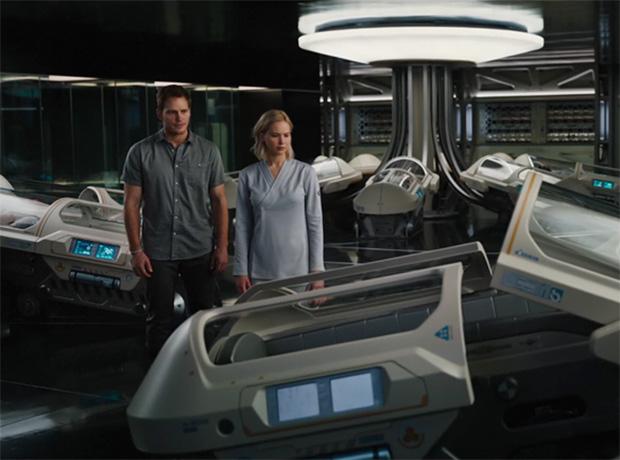 Космическая любовь: Дженнифер Лоуренс и Крис Прэтт в трейлере «Пассажиров»-320x180