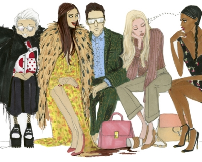Иллюстрированный гид: как выглядят главные персонажи недель моды-430x480